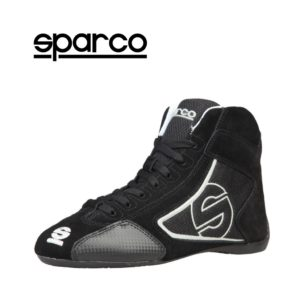 Sparco Yas-Mid Black Racing Shoes Sneakers in Suede Picture9: Designed for ultimate durability and performance, Sparco Yas-Mid Black Shoes is what you'd expect in a competition driving shoes. High laced shoes features a suede upper with the signature Sparco embroidery, the result is a clean-looking shoe with a comfortable fit.