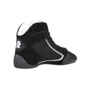 Sparco Yas-Mid Black Racing Shoes Sneakers in Suede Picture8: Designed for ultimate durability and performance, Sparco Yas-Mid Black Shoes is what you'd expect in a competition driving shoes. High laced shoes features a suede upper with the signature Sparco embroidery, the result is a clean-looking shoe with a comfortable fit.