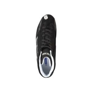 Sparco Yas-Mid Black Racing Shoes Sneakers in Suede Picture11: Designed for ultimate durability and performance, Sparco Yas-Mid Black Shoes is what you'd expect in a competition driving shoes. High laced shoes features a suede upper with the signature Sparco embroidery, the result is a clean-looking shoe with a comfortable fit.