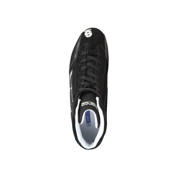 Sparco Yas-Mid Black Racing Shoes Sneakers in Suede Picture5: Designed for ultimate durability and performance, Sparco Yas-Mid Black Shoes is what you'd expect in a competition driving shoes. High laced shoes features a suede upper with the signature Sparco embroidery, the result is a clean-looking shoe with a comfortable fit.