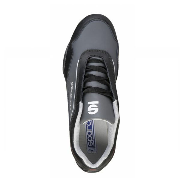 Sparco Shoes Jerez Black/Grey Shoes Sneakers Picture3: Designed for ultimate street durability and performance, Sparco Jerez Black/Grey Shoes is what you'd expect in a competition driving shoes. That is why these shoes/boots feature a thin sole for maximum pedal feel and control. The sole continues up the heel's back to provide a smooth and stable pivoting point for heel-toe shifting. Comfortable shoes/boots that can be used for everyday car and motorbike driving, touring, racing, karting and even sim racing.