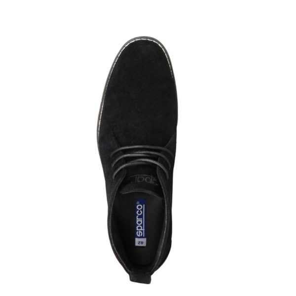 Sparco Suzuka Black Desert Boots Shoes Picture4: Designed for casual street durability and performance, Sparco Suzuka Black Ankle Boots is what you'd expect in a Casual Shoes. Unique style with increased comfort, pair with tailored pants and a casual shirt for the weekend.