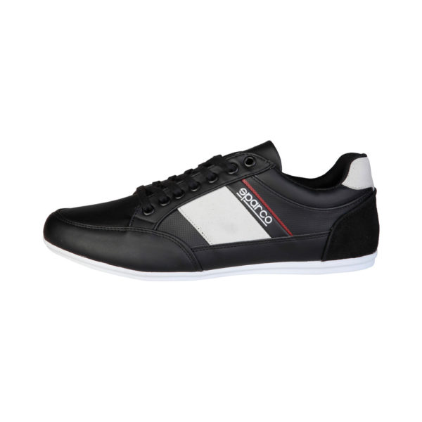 Sparco Shoes Cordoba Black Casual Sneakers Picture2: Designed for casual street durability and performance, Sparco Cordoba Black Shoes is what you'd expect in a Sport and Casual Sneakers. Unique style with increased comfort; quality materials that is suitable for smart and sporty man.