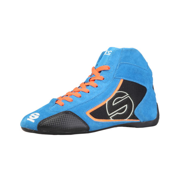 Sparco Yas-Mid Blue Racing Shoes Sneakers in Suede Picture7: Designed for ultimate durability and performance, Sparco Yas-Mid Blue Shoes is what you'd expect in a competition driving shoes. High laced shoes features a suede upper with the signature Sparco embroidery, the result is a clean-looking shoe with a comfortable fit.