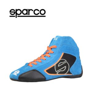 Sparco Yas-Mid Blue Racing Shoes Sneakers in Suede Picture9: Designed for ultimate durability and performance, Sparco Yas-Mid Blue Shoes is what you'd expect in a competition driving shoes. High laced shoes features a suede upper with the signature Sparco embroidery, the result is a clean-looking shoe with a comfortable fit.