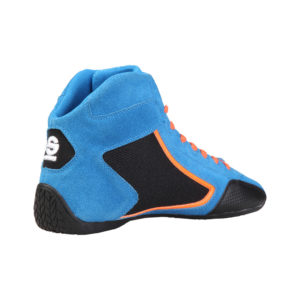 Sparco Yas-Mid Blue Racing Shoes Sneakers in Suede Picture10: Designed for ultimate durability and performance, Sparco Yas-Mid Blue Shoes is what you'd expect in a competition driving shoes. High laced shoes features a suede upper with the signature Sparco embroidery, the result is a clean-looking shoe with a comfortable fit.
