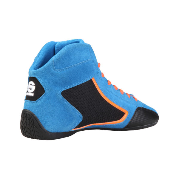 Sparco Yas-Mid Blue Racing Shoes Sneakers in Suede Picture3: Designed for ultimate durability and performance, Sparco Yas-Mid Blue Shoes is what you'd expect in a competition driving shoes. High laced shoes features a suede upper with the signature Sparco embroidery, the result is a clean-looking shoe with a comfortable fit.