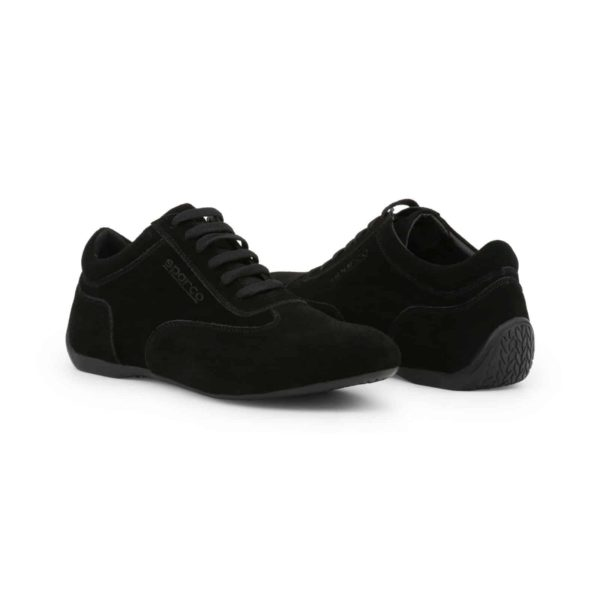 Sparco Imola-GP Black Shoes Sneakers in Suede Picture3: Designed for ultimate street durability and performance, Sparco Imola-GP Black Shoes is what you'd expect in a competition driving shoes. That is why these shoes/boots feature a thin sole for maximum pedal feel and control. The sole continues up the heel's back to provide a smooth and stable pivoting point for heel-toe shifting. Comfortable shoes/boots that can be used for everyday car and motorbike driving, touring, racing, karting and even sim racing.