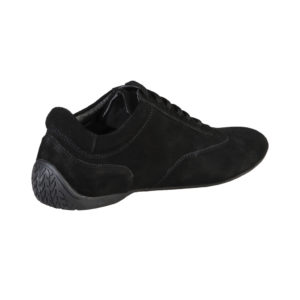 Sparco Imola-GP Black Shoes Sneakers in Suede Picture13: Designed for ultimate street durability and performance, Sparco Imola-GP Black Shoes is what you'd expect in a competition driving shoes. That is why these shoes/boots feature a thin sole for maximum pedal feel and control. The sole continues up the heel's back to provide a smooth and stable pivoting point for heel-toe shifting. Comfortable shoes/boots that can be used for everyday car and motorbike driving, touring, racing, karting and even sim racing.