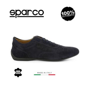 Sparco Imola-GP Dark Blue Shoes Sneakers in Suede Picture8: Designed for ultimate street durability and performance, Sparco Imola-GP Dark Blue Shoes is what you'd expect in a competition driving shoes. That is why these shoes/boots feature a thin sole for maximum pedal feel and control. The sole continues up the heel's back to provide a smooth and stable pivoting point for heel-toe shifting. Comfortable shoes/boots that can be used for everyday car and motorbike driving, touring, racing, karting and even sim racing.