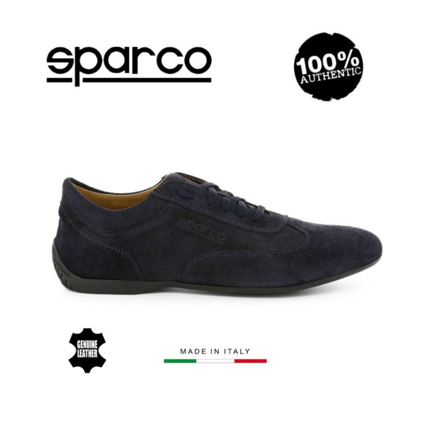 Sparco Imola-GP Dark Blue Shoes Sneakers in Suede Picture3: Designed for ultimate street durability and performance, Sparco Imola-GP Dark Blue Shoes is what you'd expect in a competition driving shoes. That is why these shoes/boots feature a thin sole for maximum pedal feel and control. The sole continues up the heel's back to provide a smooth and stable pivoting point for heel-toe shifting. Comfortable shoes/boots that can be used for everyday car and motorbike driving, touring, racing, karting and even sim racing.