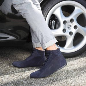 Sparco Monza-GP Blue Shoes Sneakers in Suede Picture8: Designed for ultimate street durability and performance, Sparco Monza-GP Blue Shoes is what you'd expect in a competition driving shoes. That is why these shoes/boots feature a thin sole for maximum pedal feel and control. The sole continues up the heel's back to provide a smooth and stable pivoting point for heel-toe shifting. Comfortable shoes/boots that can be used for everyday car and motorbike driving, touring, racing, karting and even sim racing.