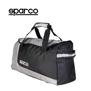 Sparco S6 Grey Travel Bag Picture9: Sparco S6 is a medium-size gym or travel bag with an adjustable and removable shoulder strap with a padded insert, two handles and more. The compact lightweight design has enough room to store your essentials featuring two handles, removable and adjustable shoulder strap with Sparco printed logo.