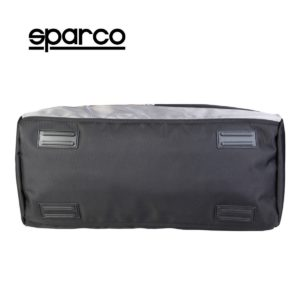 Sparco S6 Grey Travel Bag Picture12: Sparco S6 is a medium-size gym or travel bag with an adjustable and removable shoulder strap with a padded insert, two handles and more. The compact lightweight design has enough room to store your essentials featuring two handles, removable and adjustable shoulder strap with Sparco printed logo.
