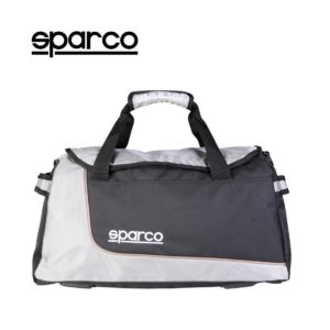 Sparco S6 Grey Travel Bag Picture16: Sparco S6 is a medium-size gym or travel bag with an adjustable and removable shoulder strap with a padded insert, two handles and more. The compact lightweight design has enough room to store your essentials featuring two handles, removable and adjustable shoulder strap with Sparco printed logo.
