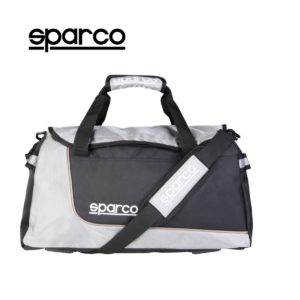 Sparco S6 Grey Travel Bag Picture10: Sparco S6 is a medium-size gym or travel bag with an adjustable and removable shoulder strap with a padded insert, two handles and more. The compact lightweight design has enough room to store your essentials featuring two handles, removable and adjustable shoulder strap with Sparco printed logo.