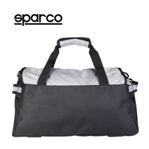 Sparco S6 Grey Travel Bag Picture11: Sparco S6 is a medium-size gym or travel bag with an adjustable and removable shoulder strap with a padded insert, two handles and more. The compact lightweight design has enough room to store your essentials featuring two handles, removable and adjustable shoulder strap with Sparco printed logo.