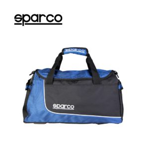 Sparco S6 Blue Travel Bag Picture19: Sparco S6 is a medium-size gym or travel bag with an adjustable and removable shoulder strap with a padded insert, two handles and more. The compact lightweight design has enough room to store your essentials featuring two handles, removable and adjustable shoulder strap with Sparco printed logo.