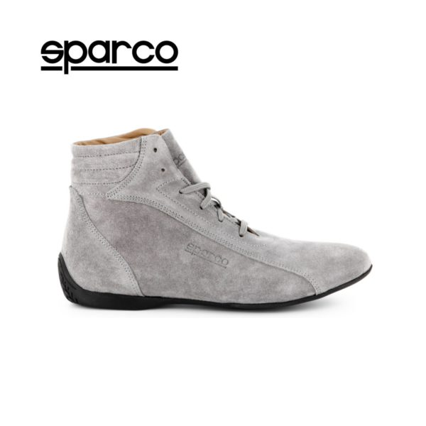 Sparco Monza-GP Grey Shoes Sneakers in Suede Picture1: Designed for ultimate street durability and performance, Sparco Monza-GP Grey Shoes is what you'd expect in a competition driving shoes. That is why these shoes/boots feature a thin sole for maximum pedal feel and control. The sole continues up the heel's back to provide a smooth and stable pivoting point for heel-toe shifting. Comfortable shoes/boots that can be used for everyday car and motorbike driving, touring, racing, karting and even sim racing.