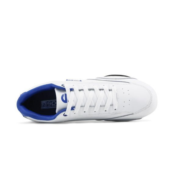 Sparco Zandvoort White/Blue Shoes Sneakers Picture3: Designed for ultimate street durability and performance, Sparco Zandvoort White/Blue Shoes is what you'd expect in a competition driving shoes. That is why these shoes/boots feature a thin sole for maximum pedal feel and control. The sole continues up the heel's back to provide a smooth and stable pivoting point for heel-toe shifting. Comfortable shoes/boots that can be used for everyday car and motorbike driving, touring, racing, karting and even sim racing.