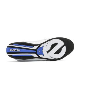Sparco Zandvoort White/Blue Shoes Sneakers Picture8: Designed for ultimate street durability and performance, Sparco Zandvoort White/Blue Shoes is what you'd expect in a competition driving shoes. That is why these shoes/boots feature a thin sole for maximum pedal feel and control. The sole continues up the heel's back to provide a smooth and stable pivoting point for heel-toe shifting. Comfortable shoes/boots that can be used for everyday car and motorbike driving, touring, racing, karting and even sim racing.
