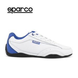 Sparco Zandvoort White/Blue Shoes Sneakers Picture5: Designed for ultimate street durability and performance, Sparco Zandvoort White/Blue Shoes is what you'd expect in a competition driving shoes. That is why these shoes/boots feature a thin sole for maximum pedal feel and control. The sole continues up the heel's back to provide a smooth and stable pivoting point for heel-toe shifting. Comfortable shoes/boots that can be used for everyday car and motorbike driving, touring, racing, karting and even sim racing.