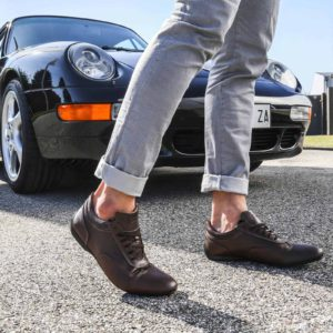 Sparco Imola-GP Brown Shoes Sneakers in Leather Picture7: Designed for ultimate street durability and performance, Sparco Imola-GP Brown Shoes is what you'd expect in a competition driving shoes. That is why these shoes/boots feature a thin sole for maximum pedal feel and control. The sole continues up the heel's back to provide a smooth and stable pivoting point for heel-toe shifting. Comfortable shoes/boots that can be used for everyday car and motorbike driving, touring, racing, karting and even sim racing.
