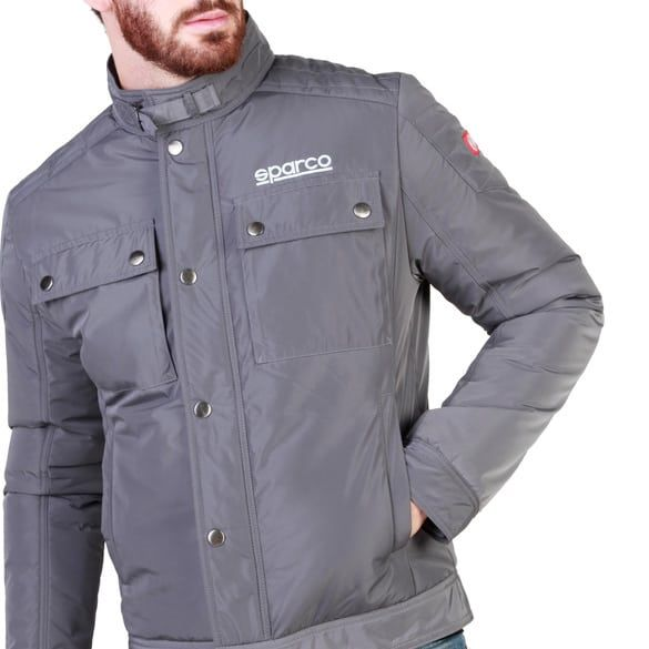 Sparco Berwick Grey Jacket Picture3: Stay warm this winter with Sparco collection of jackets for men, a great looking jacket for casual and sporty wear. Berwick jacket from Sparco will become a new wardrobe essential for you every winter, it creates a stylish and sporty look to any outfit.