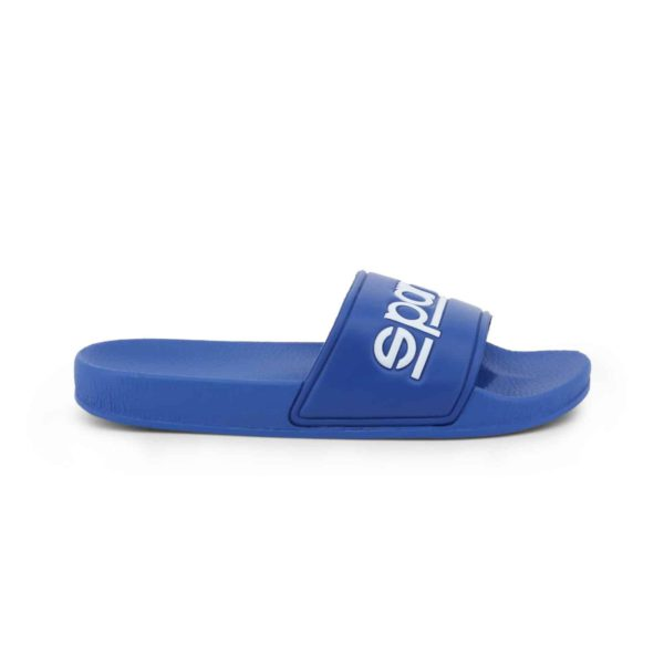 Sparco Slippers Fortaleza Blue Flip Flops Picture1: Sparco Fortaleza Blue Flip Flops can be used casually and will be a perfect companion as you go about your busy life or during sports/racing events.
