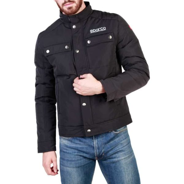 Sparco Berwick Black Jacket Picture1: Stay warm this winter with Sparco collection of jackets for men, a great looking jacket for casual and sporty wear. Berwick jacket from Sparco will become a new wardrobe essential for you every winter, it creates a stylish and sporty look to any outfit.