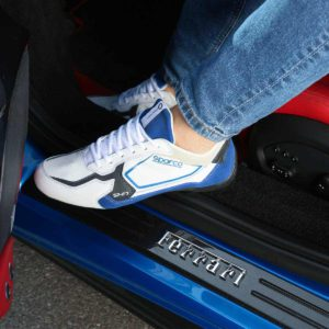 Sparco SP-F7 White/Blue Shoes Sneakers Picture7: Designed for ultimate street durability and performance, Sparco SP-F7 White/Blue Shoes is what you'd expect in a competition driving shoes. That is why these shoes/boots feature a thin sole for maximum pedal feel and control. The sole continues up the heel's back to provide a smooth and stable pivoting point for heel-toe shifting. Comfortable shoes/boots that can be used for everyday car and motorbike driving, touring, racing, karting and even sim racing.