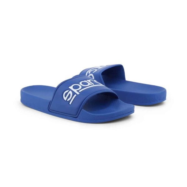 Sparco Slippers Fortaleza Blue Flip Flops Picture2: Sparco Fortaleza Blue Flip Flops can be used casually and will be a perfect companion as you go about your busy life or during sports/racing events.