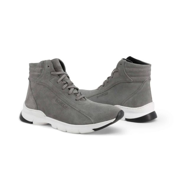Sparco Monza-Lesmo Grey Shoes Sneakers in Suede Picture3: Designed for ultimate street durability and performance, Sparco Monza Grey Shoes is what you'd expect in a competition driving shoes. That is why these shoes/boots feature a high-quality sole for maximum pedal feel and control. Comfortable shoes/boots that can be used for everyday car and motorbike driving, touring, racing, karting and even sim racing.