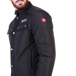 Sparco Berwick Black Jacket Picture6: Stay warm this winter with Sparco collection of jackets for men, a great looking jacket for casual and sporty wear. Berwick jacket from Sparco will become a new wardrobe essential for you every winter, it creates a stylish and sporty look to any outfit.