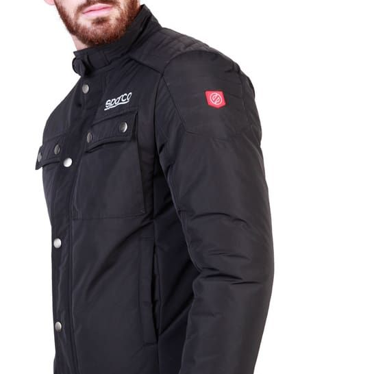 Sparco Berwick Black Jacket Picture3: Stay warm this winter with Sparco collection of jackets for men, a great looking jacket for casual and sporty wear. Berwick jacket from Sparco will become a new wardrobe essential for you every winter, it creates a stylish and sporty look to any outfit.