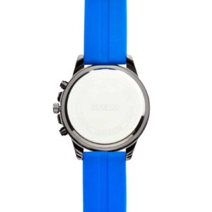 Sparco Eddie Blue Watch Picture10: The sporty watch collection from Sparco accompanies you in your everyday life by providing an inimitable racing touch to your look. Eddie model from Sparco is designed to complement differing outfits from sportswear to casual wear. The sporty design with a durable blue strap is sure to impress.