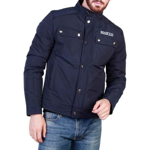 Sparco Berwick Blue Jacket Picture1: Stay warm this winter with Sparco collection of jackets for men, a great looking jacket for casual and sporty wear. Berwick jacket from Sparco will become a new wardrobe essential for you every winter, it creates a stylish and sporty look to any outfit.