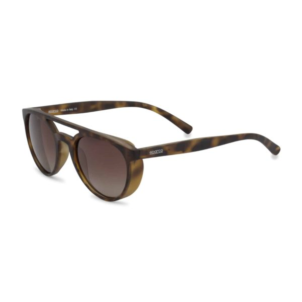 Sparco Chicane Havana Brown Sunglasses Picture2: Sparco Chicane Brown Sunglasses are light, stylish, sporty and made in Italy by Sparco, a true piece of racing fashion. It comes with polarised lenses to protect your eyes. Sparco sunglasses are simple and trendy that can complete every outfit from sporty look to everyday glamorous style.