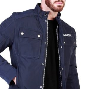 Sparco Berwick Blue Jacket Picture8: Stay warm this winter with Sparco collection of jackets for men, a great looking jacket for casual and sporty wear. Berwick jacket from Sparco will become a new wardrobe essential for you every winter, it creates a stylish and sporty look to any outfit.