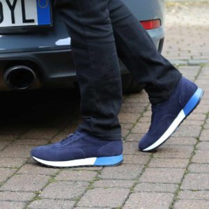 Sparco Imola-Run Blue Shoes Sneakers in Suede Picture7: Designed for ultimate street durability and performance, Sparco Imola Blue Shoes is what you'd expect in a competition driving shoes. These shoes feature a high-quality sole for leisure/casual use and would make great driving shoes. Comfortable and can be used for everyday car and motorbike driving, touring, racing, karting and even sim racing.