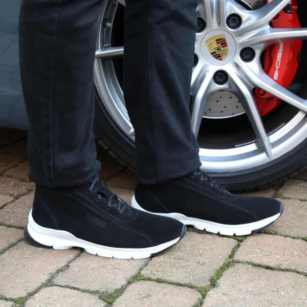 Sparco Monza-Lesmo Black Shoes Sneakers in Suede Picture2: Designed for ultimate street durability and performance, Sparco Monza Black Shoes is what you'd expect in a competition driving shoes. That is why these shoes/boots feature a high-quality sole for maximum pedal feel and control. Comfortable shoes/boots that can be used for everyday car and motorbike driving, touring, racing, karting and even sim racing.