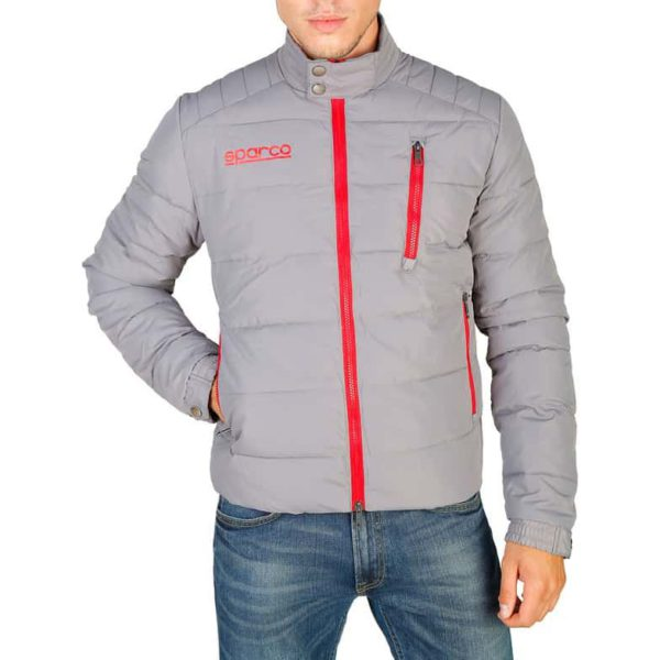 Sparco Indy Grey Jacket Picture1: Sparco Indy Grey Jacket marked with Sparco logo; it comes in contrasting zip, 3 external pockets with snap buttons, ribbed waist and cuffs. Brilliant for casual outings and perfect companion as you go about your busy life or during sports and racing events.