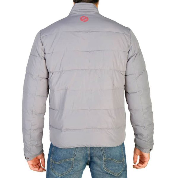 Sparco Indy Grey Jacket Picture3: Sparco Indy Grey Jacket marked with Sparco logo; it comes in contrasting zip, 3 external pockets with snap buttons, ribbed waist and cuffs. Brilliant for casual outings and perfect companion as you go about your busy life or during sports and racing events.