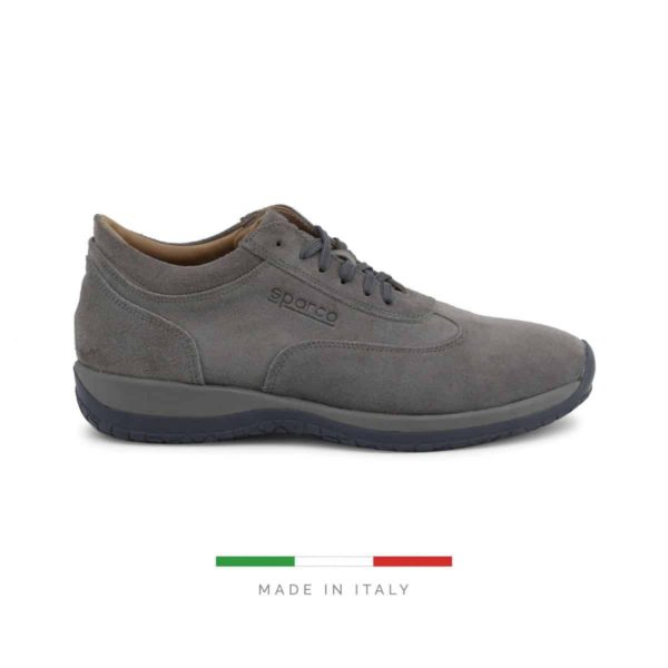 Sparco Imola-GP1 Grey Shoes Sneakers in Suede Picture1: Designed for ultimate street durability and performance, Sparco Imola-GP1 Grey Shoes is what you'd expect in a competition driving shoes. That is why these shoes/boots feature a grippy sole for maximum pedal feel and control. The sole continues up the heel's back to provide a smooth and stable pivoting point for heel-toe shifting. Comfortable shoes/boots that can be used for everyday car and motorbike driving, touring, racing, karting and even sim racing.