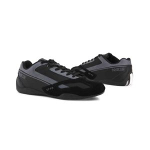 Sparco SP-F3 Black Shoes Sneakers Picture8: Designed for ultimate street durability and performance, Sparco SP-F3 Black Shoes is what you'd expect in a competition driving shoes. That is why these shoes/boots feature a thin sole for maximum pedal feel and control. The sole continues up the heel's back to provide a smooth and stable pivoting point for heel-toe shifting. Comfortable shoes/boots that can be used for everyday car and motorbike driving, touring, racing, karting and even sim racing.