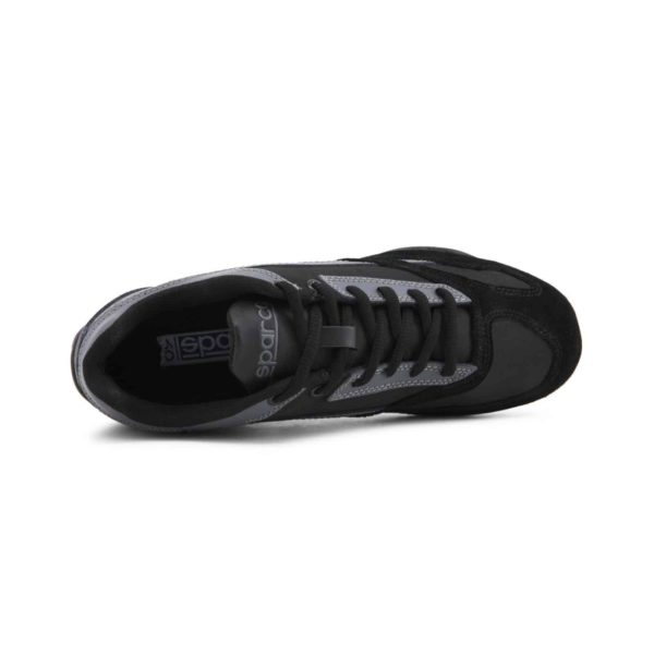 Sparco SP-F3 Black Shoes Sneakers Picture4: Designed for ultimate street durability and performance, Sparco SP-F3 Black Shoes is what you'd expect in a competition driving shoes. That is why these shoes/boots feature a thin sole for maximum pedal feel and control. The sole continues up the heel's back to provide a smooth and stable pivoting point for heel-toe shifting. Comfortable shoes/boots that can be used for everyday car and motorbike driving, touring, racing, karting and even sim racing.