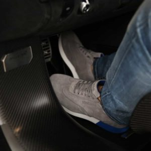 Sparco Imola-Run Grey Shoes Sneakers in Suede Picture7: Designed for ultimate street durability and performance, Sparco Imola Grey Shoes is what you'd expect in a competition driving shoes. These shoes feature a high-quality sole for leisure/casual use and would make great driving shoes. Comfortable and can be used for everyday car and motorbike driving, touring, racing, karting and even sim racing.