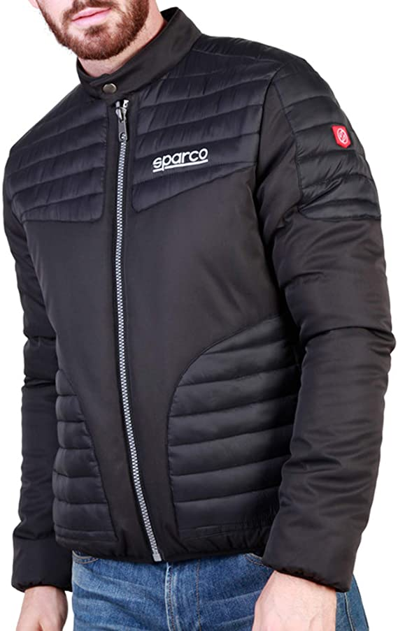 Sparco Bloomington Black Jacket Picture4: Stay warm this winter with Sparco collection of jackets for men, a great looking jacket for casual and sporty wear.