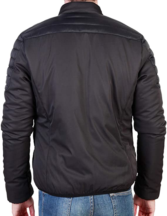 Sparco Bloomington Black Jacket Picture2: Stay warm this winter with Sparco collection of jackets for men, a great looking jacket for casual and sporty wear.