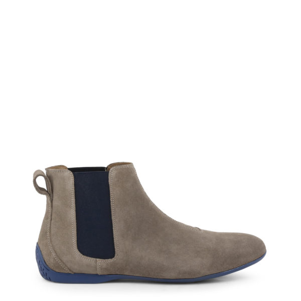 Sparco Misano Taupe Blue Shoes Ankle Boots in Suede Picture5: Misano ankle boot is made with nothing but comfort in mind, these stylish shoes by Sparco make the perfect addition to any outfit. Sparco Misano a sporty ankle boot made from Taupe suede, leather-lined and matched with a rubber sole. Pair Sparco Misano with tailored pants and a casual shirt for the weekend.